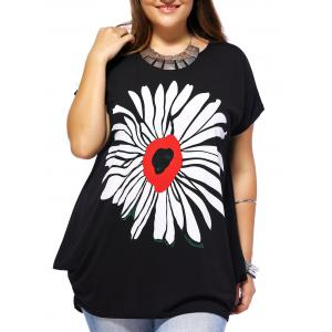 Plus Size Floral Casual Baggy T-Shirt