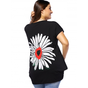 Plus Size Floral Casual Baggy T-Shirt -