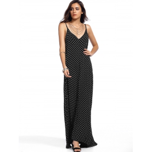 Alluring Spaghetti Strap Printed Women's Maxi Dress -