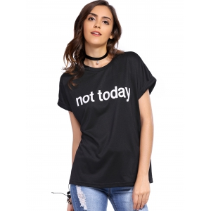 Casual Short Sleeve Letter Print Women's T-Shirt -