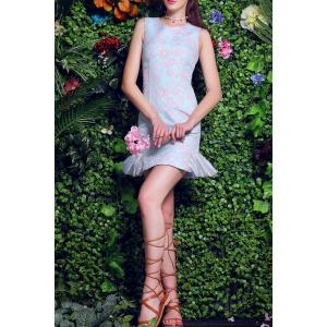 Floral Embroidery Packet Buttock Mermaid Dress -