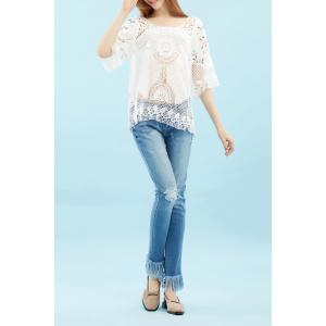 Cut Out Knitted Blouse -