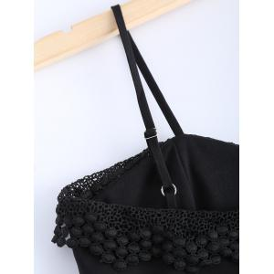Fashionable Spaghetti Strap Lace Crop Top For Women -