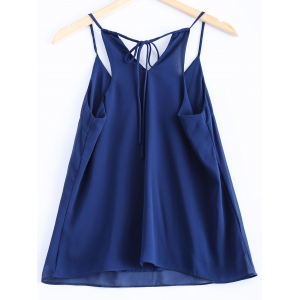 Stylish Spaghetti Strap Solid Color Tank Top -