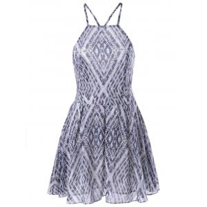 Stylish Slimming Spaghetti Strap Backless Dress For Women