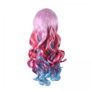 Stylish Curly Long Full Bang Sythetic Ombre Cosplay Wig For Women -