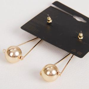 Pair of Stylish Metal Ball Drop Earrings For Women -