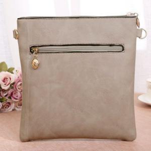 Stylish Hollow Out and PU Leather Design Crossbody Bag For Women -