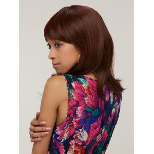 Synthetic Silky Straight Capless Medium Full Bang Wig