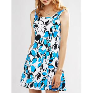 Graceful Women's Print Sleeveless Dress