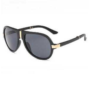 Alloy Nose Bridge Splicing Design Pilot Sunglasses