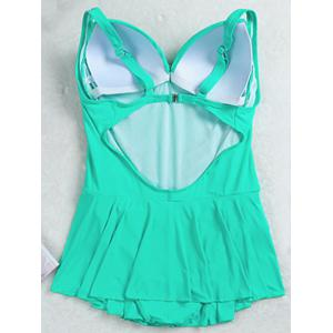 Stylish Plus Size Ruched One-Piece Swimsuit For Women -