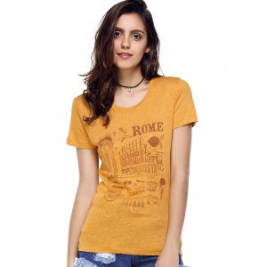 Building Graphic T-Shirt - EARTHY M