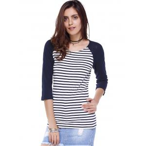 Striped Retour Zippered Tee -