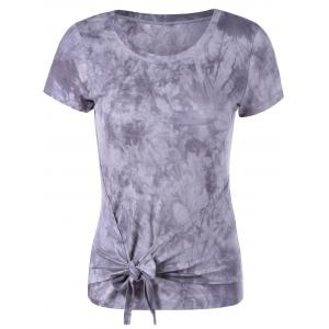 Fashionable Round Collar Short Sleeve T-Shirt -