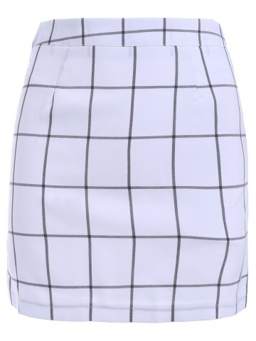Buy Casual Lattice Print Skirt For Women