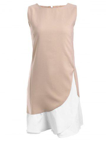 Shop Simple Scoop Neck Sleeveless Flounced Hem Dress For Women