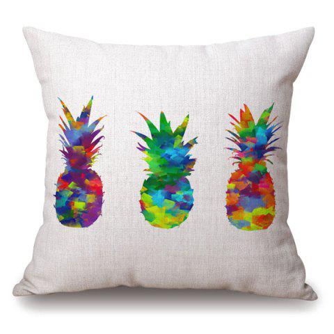 Hot Stylish Colorful Pineapple Splash-Ink Pattern Pillowcase