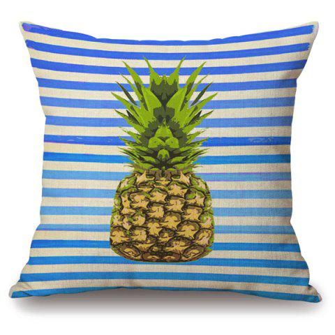 Affordable Fashion Pineapple Stripe Embellished Square Shape Pillowcase