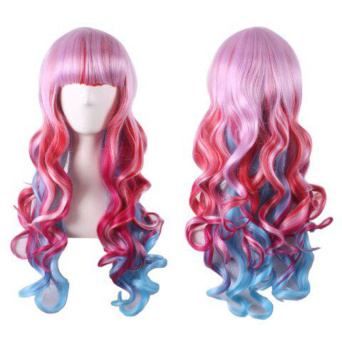 Shop Stylish Curly Long Full Bang Sythetic Ombre Cosplay Wig For Women