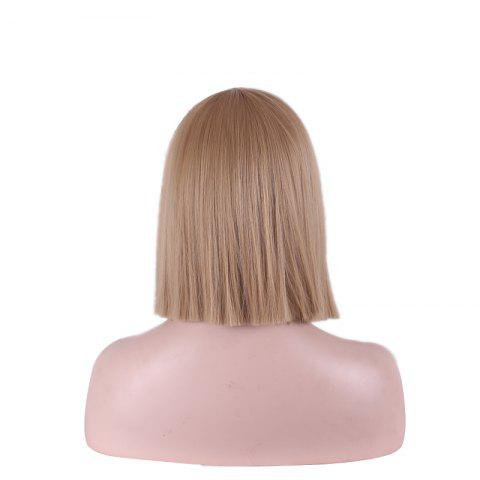 Hot Fashion Full Bang Straight Sythetic Cosplay Bob Wig For Women - MAROON  Mobile