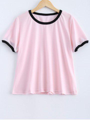 Shops Cotton Blend Ringer Tee