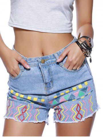 Store Chic Women's Ethnic Print Denim Shorts
