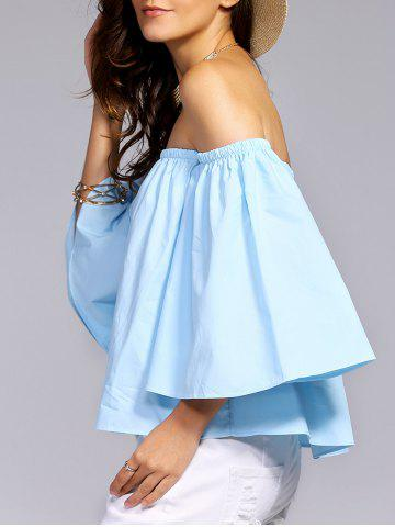 Hot Alluring Off-The-Shoulder Flare Sleeve Women's Blouse