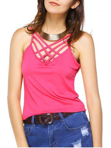 Fashion Criss Cross Hollow Out Tank Top