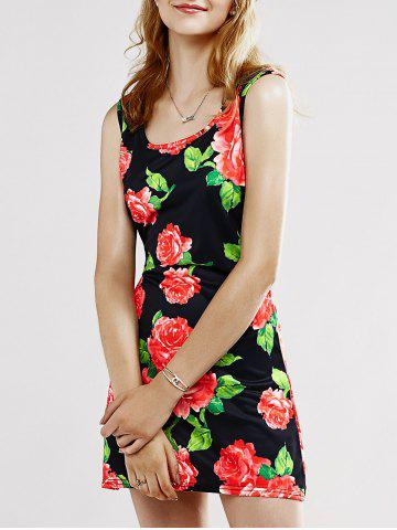 Fashion Chic Women's Floral Print Tank Dress