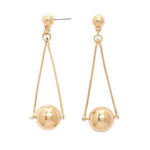 Shops Pair of Stylish Metal Ball Drop Earrings For Women