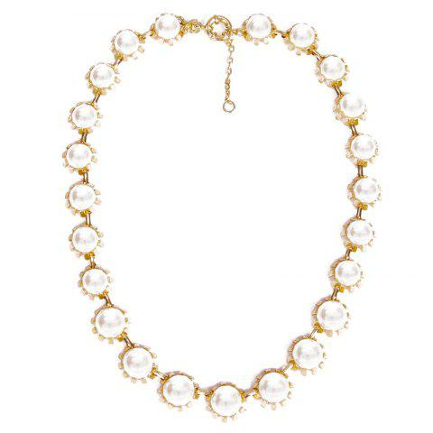 Shop Faux Pearls Adjustable Pendant Necklace