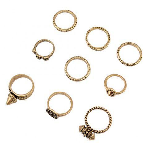 Shops A Suit of Ethnic Style Rivet Rings