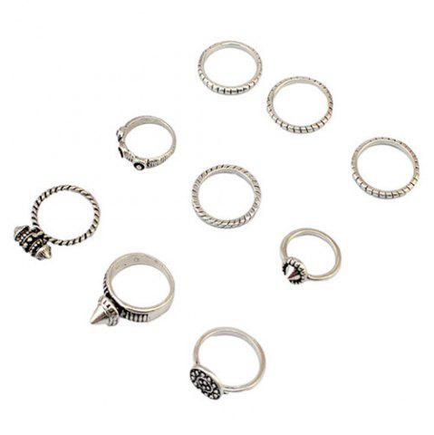 Outfit A Suit of Vintage Engraved Rivet Rings