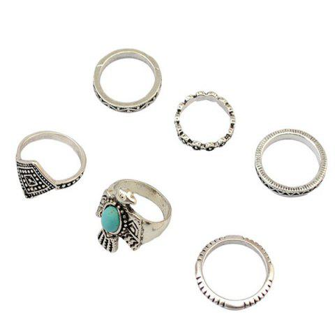 Online A Suit of Vintage Faux Turquoise Eagle Rings