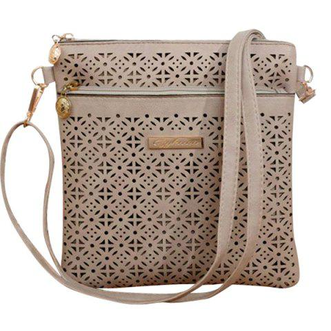 Fashion Stylish Hollow Out and PU Leather Design Crossbody Bag For Women