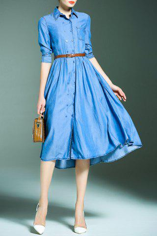 Online Double Breasted Denim Dress