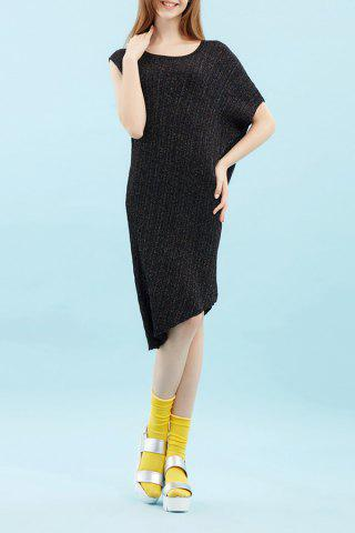 Unique Dolman Sleeve High Low Dress