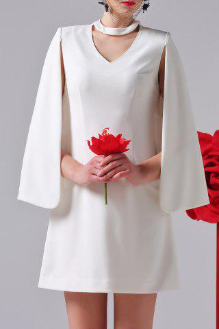 Fashion Solid Color Faux Cloak Dress