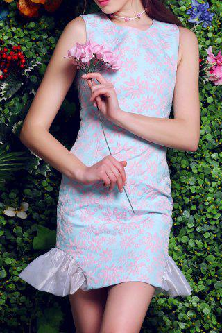 Shop Floral Embroidery Packet Buttock Mermaid Dress