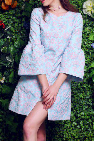 Shop Floral Embroidery Fitting Trench Coat