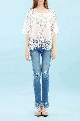 Store Cut Out Knitted Blouse