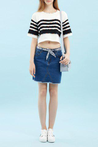 Chic Patched Asymmetric Knitwear