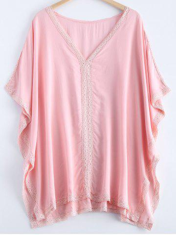 Cheap Fashionable Lace V-Neck Batwing Sleeves Dress For Women