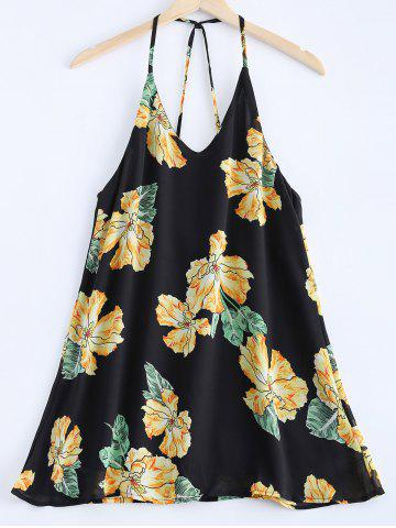 Discount Fashionable V-Neck Print Spaghetti Strap Dress For Women