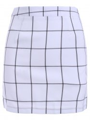 Casual Lattice Print Skirt For Women -