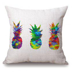 Stylish Colorful Pineapple Splash-Ink Pattern Pillowcase -