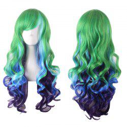 Stylish Curly Long Side Bang Sythetic Ombre Cosplay Wig For Women -