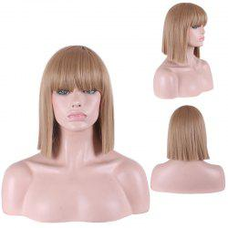 Fashion Full Bang Straight Sythetic Cosplay Bob Wig For Women -