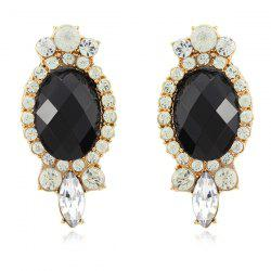 Faux Gemstone Diamante Earrings
